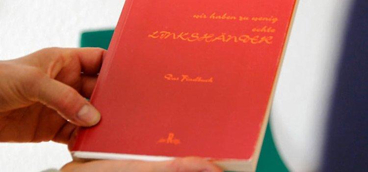 """Foto von Buch """"Wir haben zu wenig echte Linkshänder"""""""